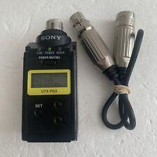 SONY UTX-P03 UHF WIRELESS PLUG-ON TRANSMITTER 470.125-541.875MHz + XLR MIC Cable