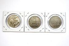UNC USSR CCCP RUSSIA 1987 SET of 3 COMMEMORATIVE 1 ROUBLE COIN LOT