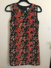 M Missoni Modern Print Size 4 Silk A-Line Dress