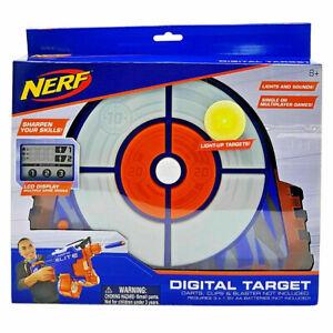 NERF Elite Digital Target Interactive Scoreboard with Blaster Sounds Lights NEW