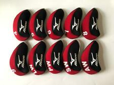 10PCS Golf Iron Headcovers for Mizuno Club Head Covers 4-LW Red Gray Universal