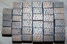 Money Letterpress Printing Blocks 500 Lot Of 34