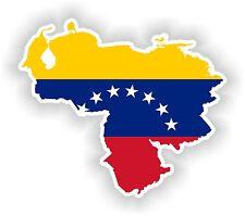 Sticker Silueta Venezuela Mapa Bandera Para Parachoques Guitarra Patineta Locker Tablet