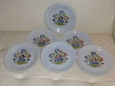 French Pottery Dutertre Desvres Dinner Plates - Set of 6