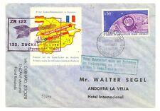 FRANCE ANDORRA 1962 ROCKET MAIL + POSTER STAMP --F/VF