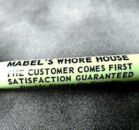 Vintage Advertising Ballpoint Pen - Mabel's Whore House - Miami Beach, FL   BP11
