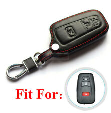 3 Buttons Remote Key Fob Bag Holder PU Leather Cover Case Fit For Toyota Prius C
