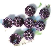 Grape Bead Caps Deco Flower Floral Ceramic Handpainted Pressed Vintage #843-X