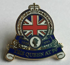 Queen Elizabeth 90th Birthday Enamel Pin/Lapel Badge **INCLUDES FREE GIFT BOX**