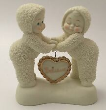 Dept 56 Snowbabies I Believe In You Porcelain Figurine With Heart Pin Brooch