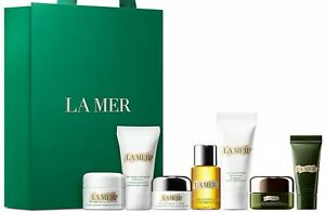 LA MER 7pc set: SOFT CREAM/EYE BALM/RENEWAL OIL/SERUM/Concentrate/Exfoliator NEW