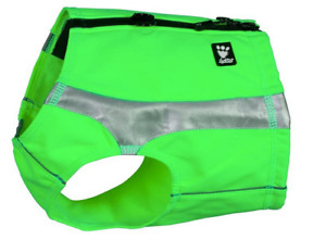 Hurtta Polar Visibility Vest Keeps Dog Dry, Warm And Safe XXS Kiwi Green