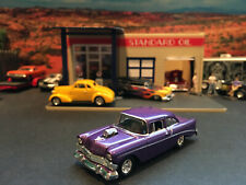 1:64 Hot Wheels Limited Edition 1956 56 Chevy Blown Street Rod Purple