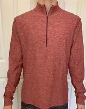 Lululemon Mens Size L Surge Warm 1/2 Zip Red Hdsr Pullover Yoga Top Run