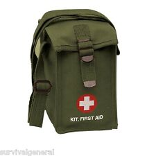 First Aid Pouch Bag Military G.I. Style Platoon 1st Kit OD Green Medic Canvas