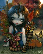 Jasmine Becket-Griffith art print season fairy fall leaves dragon SIGNED Autumn