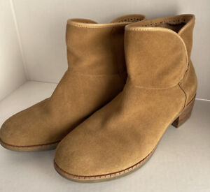 UGG Darling Chestnut Suede Leather Ankle Boots Booties #1004367 Women's Size 9.5