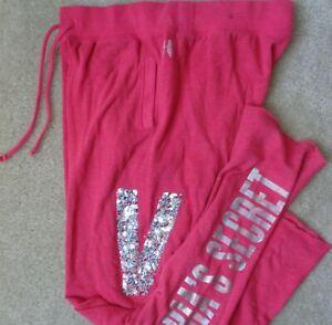 Victoria's Secret PINK V Womens S Cotton Polyester Lightweight Sweatpants Pants