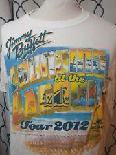Vtg Jimmy Buffett Concert Shirt Lounging at the Lagoon Tour 2012-13 Landshark L