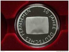 """10 euro-alemania-plata 2002 en placa pulida"""" 50 años a distancia Alemana"""
