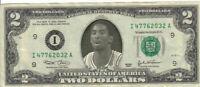 Lakers Kobe Bryant $2 Dollar Bill Mint! Rare! $1