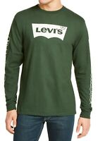 Levi's Mens T-Shirt Green Size XL Crewneck Logo Print Graphic Tee $34 171