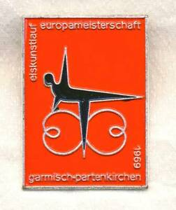 1969 ISU European FIGURE SKATING Championships PIN BADGE Garmisch-Partenkirchen