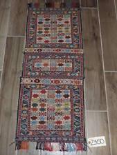 1.7x4ft. Handwoven Caucasian Kilim Sumak Wool Saddlebag