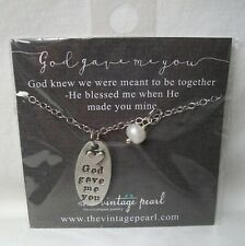 NEW OFFICIAL THE VINTAGE PEARL - GOD GAVE ME YOU SILVER PLATED PEARL NECKLACE!