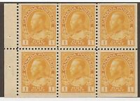 CANADA #105b MINT BOOKLET PANE VF NH