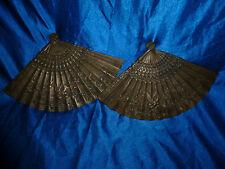 ANCIENS DESSOUS DE PLAT JAPONAIS ARTISANAL EVENTAILS FIN 19  FONTE 1KG ET 750 GR