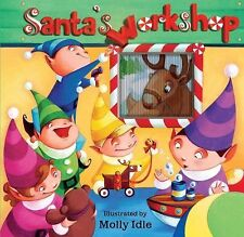 SANTA'S WORKSHOP   Christmas,ANI-MOTION CHILDRENS STORYBOOK,FREE SHIP