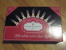 New Trim A Home 200Ct White Wire Light Set - Clear Yf-W200Cr