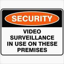 Security Signs -  VIDEO SURVEILLANCE IN USE ON THESE PREMISES