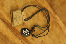 Handmade Christian Orthodox Pendant with a Stone Carved Cross Necklace Crucifix
