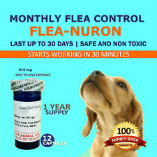 1 Year Supply 12 Capsules Monthly Flea Control For Dogs 90-135lbs 610mg