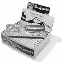 HIGHLAND KINGSIZE ROLLING PAPERS HEADQUARTERS + ROACH  24 PACK HEADQUARTER RIZLA