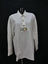 Gr.XXL Trachtenhemd Woodpeaker weiß Edelweiß Stickerei Trachten Hemd TH1449