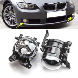 Pair Front Fog Lights Driving Lamps For BMW E60 E61 E63 E46 X3 325i 525i E91 E90