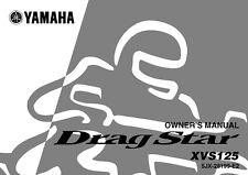 Yamaha Owners Manual Book 2002 Drag Star XVS125