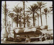 Glass Magic Lantern Slide COLOSSAL STATUE OF RAMESES II C1910 EGYPT PHOTO