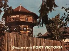 Fort Victoria Vintage Postcard British Columbia Canada Unposted