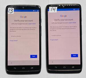 Lot of 2 Google Locked Moto Droid Turbo XT1254 Verizon 32gb Check IMEI