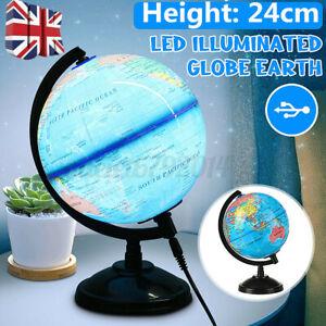 2 in 1 Illuminated World Globe Light Up Night Lamp Desk Light Kid Christmas