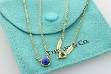 """Tiffany & Co 18K 750 Gold Elsa Peretti Blue Lapis Color By The Yard Necklace 16"""""""