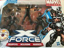Marvel Universe X-Force Set Multi-Pack Deadpool Wolverine Warpath