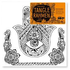 Hamsa Tangle Leinwandrahmen 20x20 Zenmalerei für Stifte Marker Farben