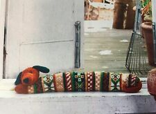KNITTING PATTERN Dog Draught Excluder Stag & Geometric Cushion 3 Home Designs