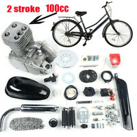 NEW 100cc 2-Stroke Bicycle Engine Kit Gas Motorized Motor Bike Modified Full Set