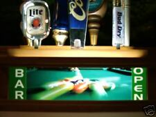 BILLIARDS POOL tap handle holder/Lights up your handles
